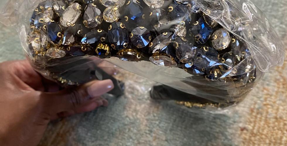 Glitz N Glam Headband Blue, Black, Silver