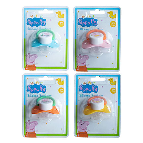 Peppa Pig Silicone Soother - 2 pack