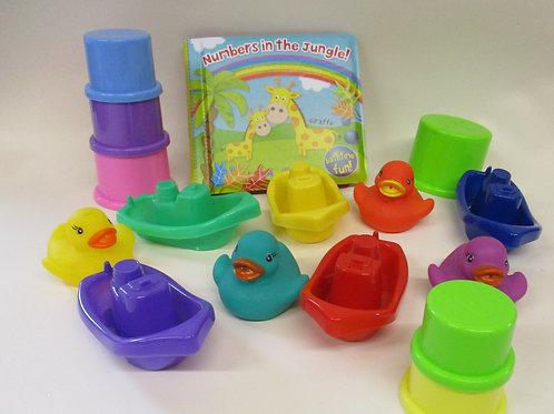 Bath toys selection