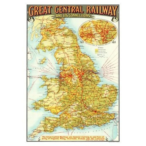Map of Great Central Railway - 1000 Piece Jigsaw Puzzle