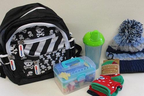 Toddler filled backpack gift set