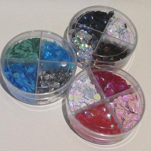 Sequins - 4 colour tub