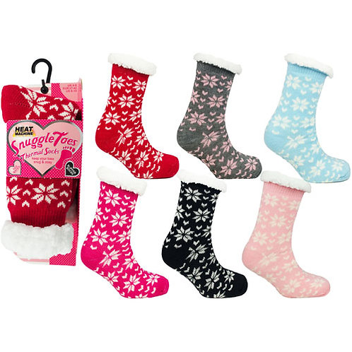 Snuggle Toes Ladies Heat Machine Socks