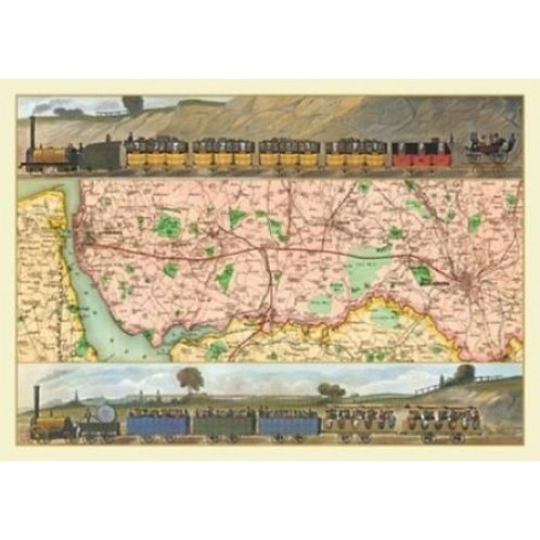 Travelling on The Manchester to Liverpool Railway - 1000 Piece Jigsaw Puzzle