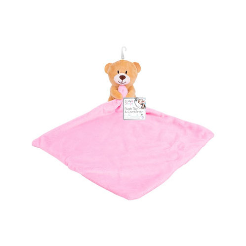 First Steps Baby Comforter Pink