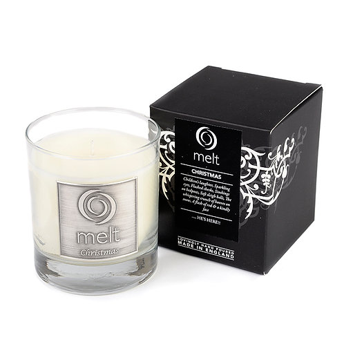 Christmas scented luxury glass jar candle