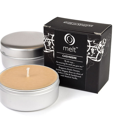 Cashmere scented luxury travel candle