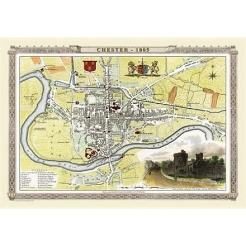 Map of Chester 1805 - 1000 Piece Jigsaw Puzzle