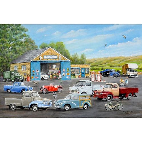 The Old Garage - 1000 Piece Jigsaw Puzzle