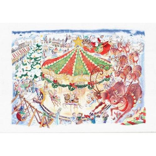 Christmas Carousel - 1000 Piece Jigsaw Puzzle