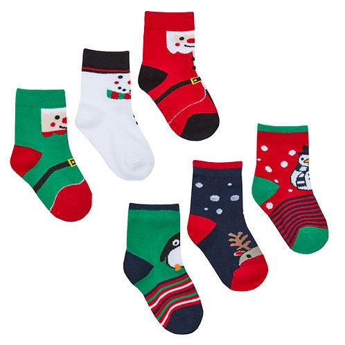 Baby Festive Christmas Socks - 3 pack