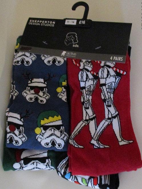Men's Christmas Star Wars Socks
