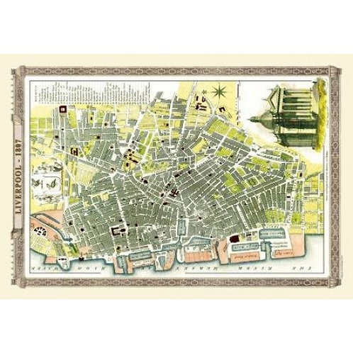 Map of Liverpool 1807 - 1000 Piece Jigsaw Puzzle
