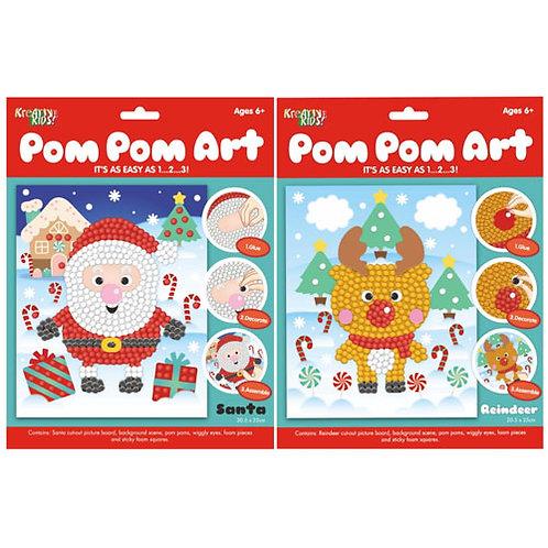 Christmas Pom-Pom Art Set