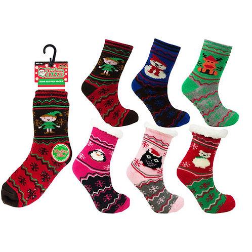 Unisex Children's Christmas Slipper Socks