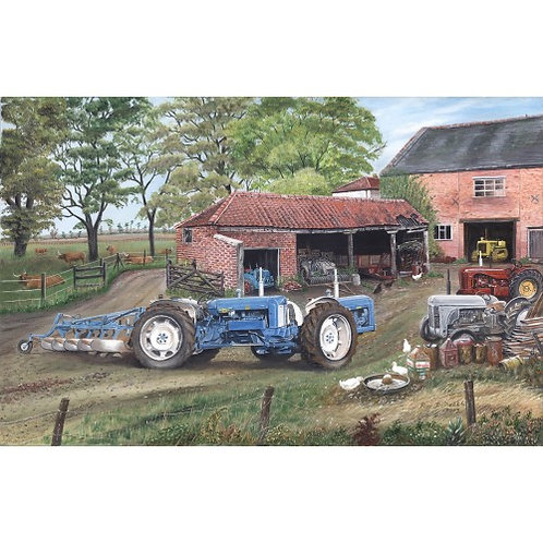 Blue Doe Tractor - 1000 Piece Jigsaw Puzzle