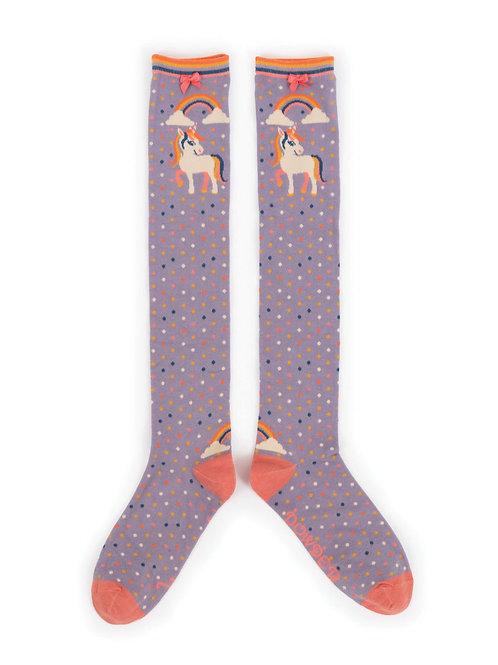 Powder Unicorn Knee-High Socks