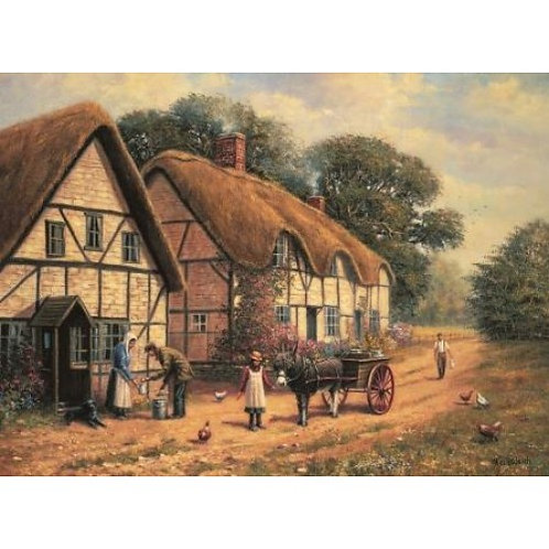 Delivering The Milk 500 Piece Jigsaw Puzzle