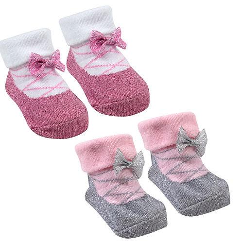 Baby girl socks in gift bag