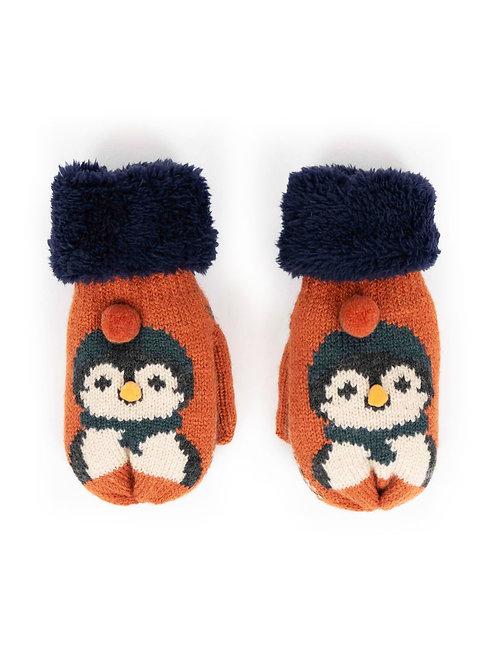 Powder Cosy Kids Penguin Mittens