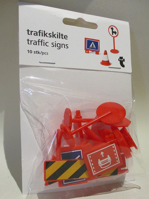 Traffic signs toys - pack of 10