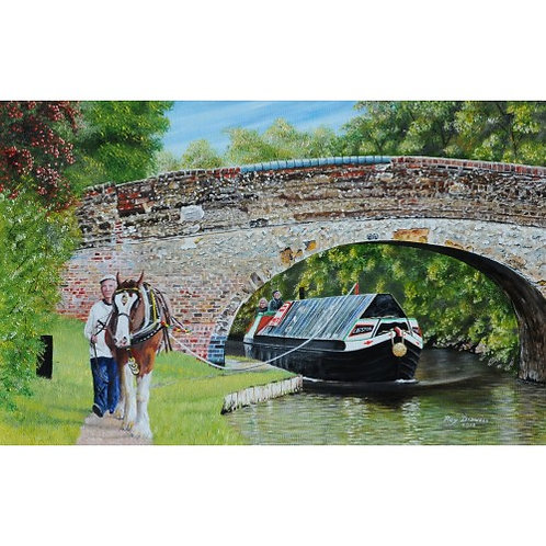 On the Towpath  500 Piece Jigsaw Puzzle