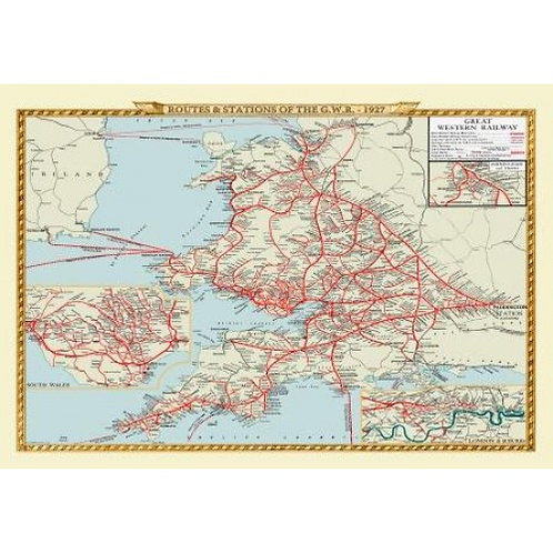 Map & Routes of Great Western Railway - 1000 Piece Jigsaw Puzzle