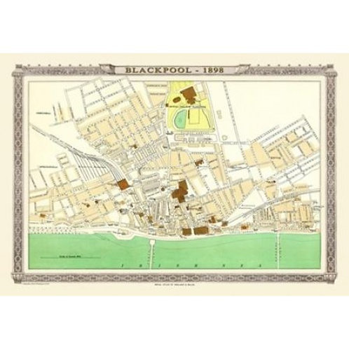 Map of Blackpool 1898 - 1000 Piece Jigsaw Puzzle