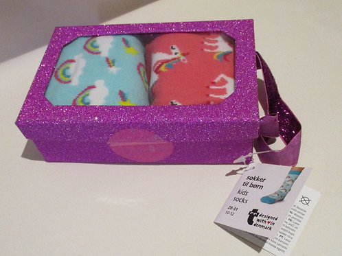 Unicorn socks, 2 pack, in gift box
