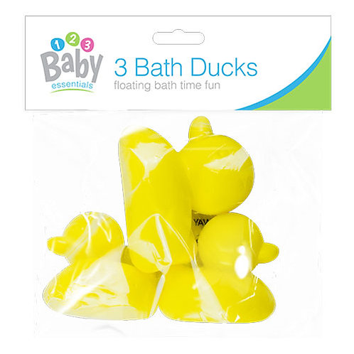 Bath time ducks - pack of 3