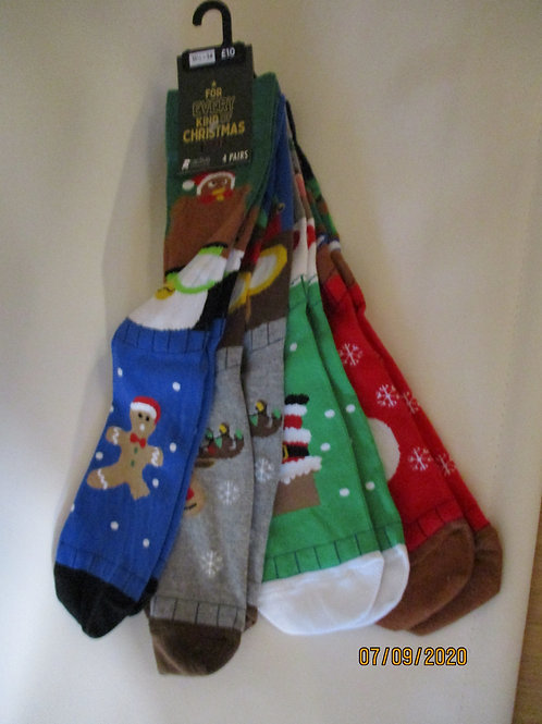 Men's Christmas Socks - 4 pack
