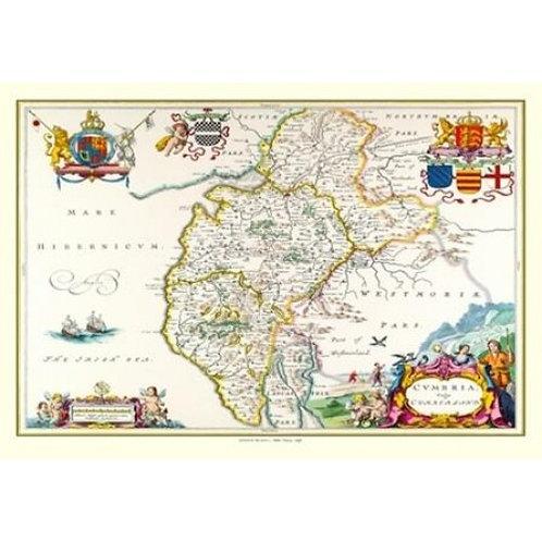 Map of Cumbria 1648 - 1000 Piece Jigsaw Puzzle