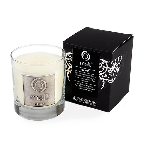 Dance scented luxury glass jar candle