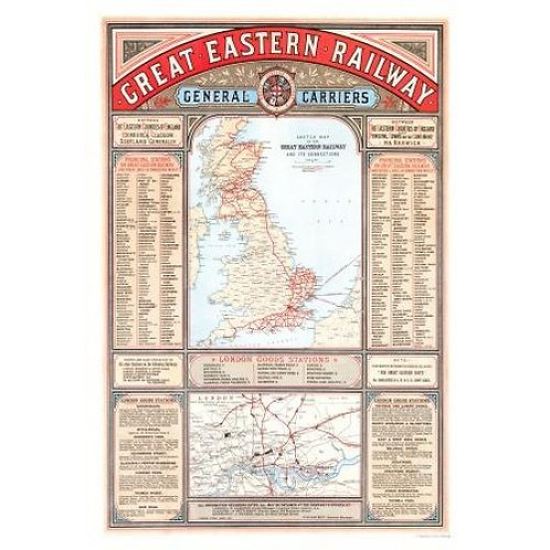 Map of Great Eastern Railway - 1000 Piece Jigsaw Puzzle