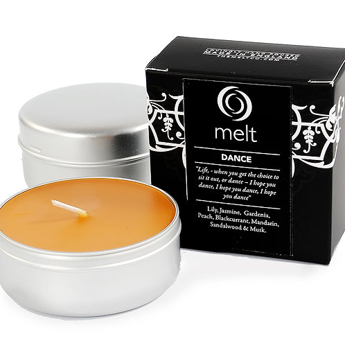 Dance scented luxury travel candle