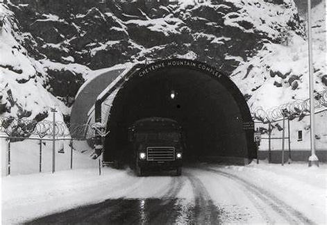 NORAD Cheyenne Mountain Black and White.