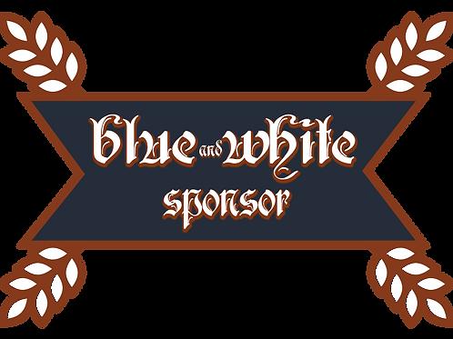 Blue & White Sponsor