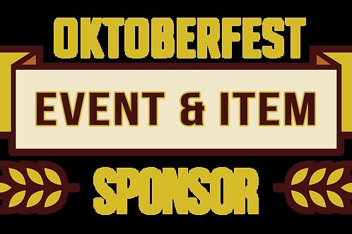 Event Item & Shirt Sponsor