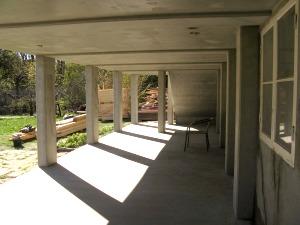 Gjutning av ny altan med trappor