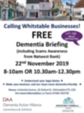 Dementia for Business Whitstable flyer.j