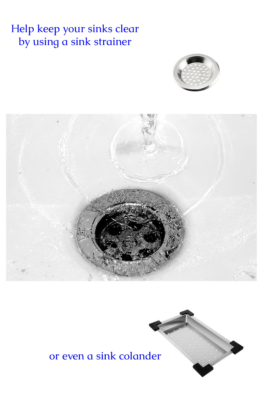 sink strainers help keep drains unclogged