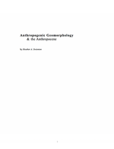 Anthropogenic Geomorpholgy