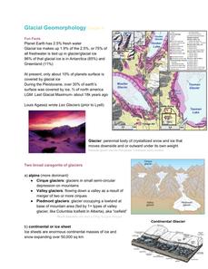 Glacial Geomorpholgy
