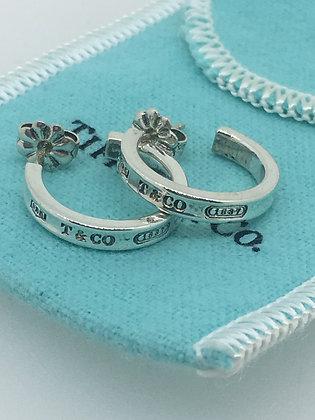 Tiffany & Co 925 Silver Hoop Earrings