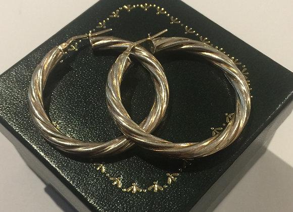925 Sterling Silver Italian Hoop Earrings