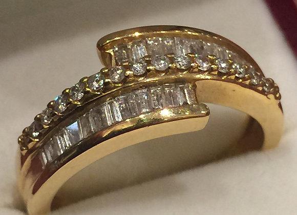 Baguette Cut Diamond Dress Ring