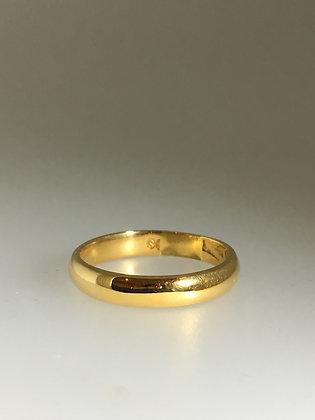 18K Yellow Gold Mens' Wedding Band