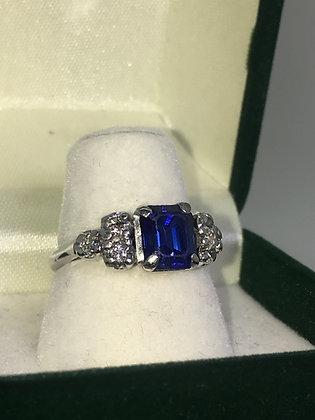 18K Gold, Sapphire & Diamond Dress Ladies' Ring