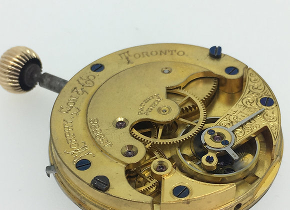 Morphy Son & Co., Toronto Pocket Watch Movement