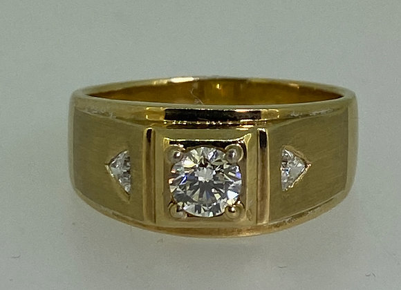 0.50ct Diamond Signet Gentlemen' Ring in 18K Yellow Gold